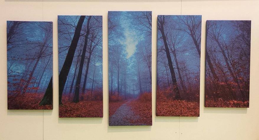 composicion de cuadros en lienzo