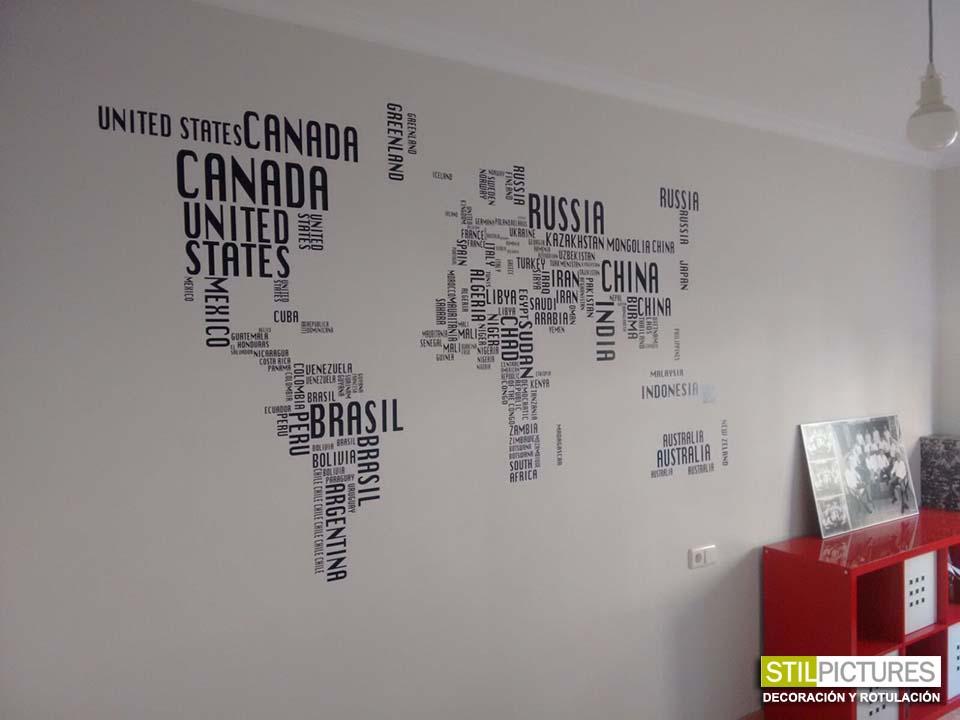 Stilpictures vinilo mapa mundi stilpictures - Vinilo mapa mundi ...