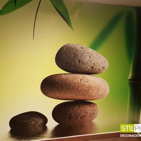 Mural Zen de piedras