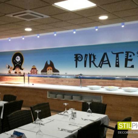 Mural infantil Piratas