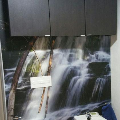 mural para el aseo de cascada